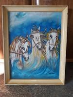 Balázs János lovak címü képe eladó.