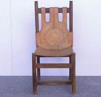 0C885 Retro vastag bőrrel bevont támlás szék