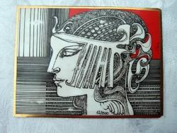Szász E porcelán kép