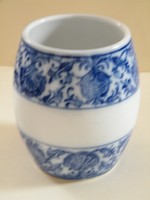 Antik Villeroy & Boch Dresden (1874-1909) kék mintás fűszertartó