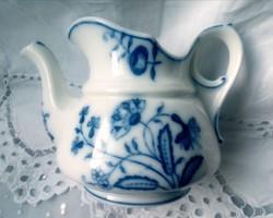 Antik kék mintás vastag porcelán kiöntő