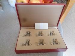Káprázatos macis ón névjegykártya tartó készlet, eredeti dobozában