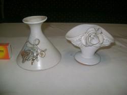 Kerámia gyertyatartó - két darab