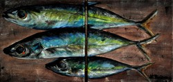 Fish - 2 pieces. Balogh's branch painting