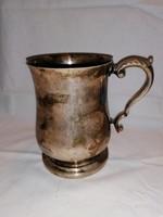Jelzett ezüstözött Angol füles pohár
