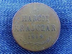 Szabadságharc 3 krajczár 1849 NB - Lapkavéges! / id 2659/
