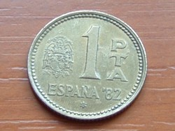 SPANYOL 1 PESETA 1980 '82 FOCI VB #