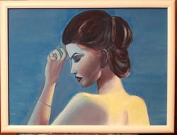 Álmodozó - portré, olaj