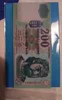 Hűtőmágnes 200 Forint. 6×9 cm