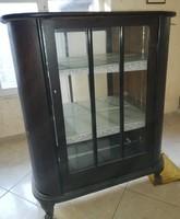 Antik tükrös vitrines szekrény