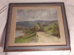 RITKASÁG Benczúr Béla olaj / vászon festmény kartonra kasírozva, eredeti, szignált alkotás