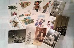 15 db RETRO régi posta tiszta karácsonyi képeslap