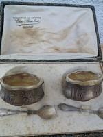 Gyönyörűséges egyedi ékszerész munka asztalközép alpakka és üveg HIBÁTLAN!