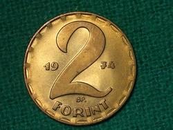 2 Forint 1974 ! Nem Volt Forgalomban ! Verdefényes !