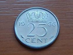 HOLLAND 25 CENT 1966