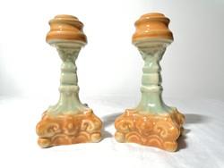 Mázas kerámia gyertyatartó párban 15 cm (130)