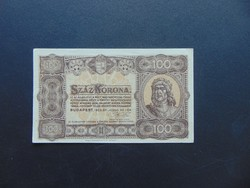 100 korona 1923 Magyar Pénzjegynyomda RT  Szép ropogós bankjegy  03