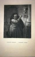 Rembrandt antik metszet
