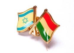 Izrael-Magyarország zászlós jelvény