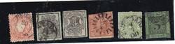 8 darab ónémet bélyeg az 1850-es évekből