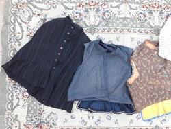 4 db pruszlik egyben - mellény - paraszti népi ruhák - múlt századi, házilag készített ruhák
