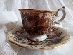 Antik transferware Bryonia Amberg fajansz csokis/ hosszúkávés csésze