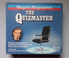 Régi retró Magnus Magnusson The Quizmaster kvízjáték kvíz játék
