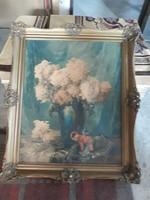 Komáromi Kancz Endréné (Kiss Sarolta) nagyméretü akvarell eladó