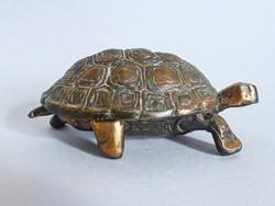 Ritka,retro vörösréz teknős alakú ékszertartó
