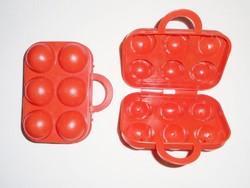 Retro műanyag tojástartó - Német Sonja Plastic - 1970-es évekből, 2 db