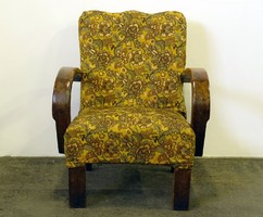 0L517 Régi art deco ívelt karfás fotel