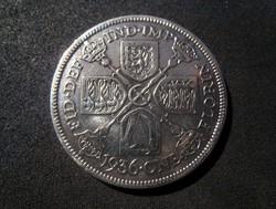 Egyesült Királyság, 1 Florin 1936 0,500/1000 ezüst érme VF