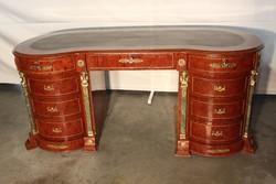 Rézveretes empire stílusú ,térbe állítható íróasztal!