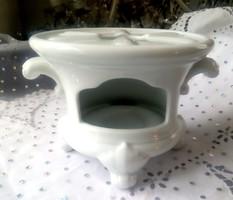 Fehér porcelán tea melegítő mécsestartó Hutschenreuther-Rosenthal