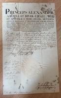 Alexander püspök fejléces levele 1826