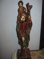 Faragott fa szobor Izsák?