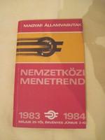 Nemzetközi menetrend 1983-1984