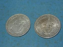 EZÜST 2 PENGŐ 1933,1939   2 DB!!
