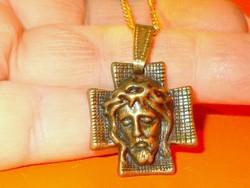Szenvedő Jézus Krisztus Arcmása Antik Uniszex Nyaklánc