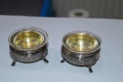 2 darab ezüst sótartó