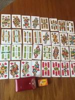 Retro,vintage játékkártya , magyar mini kártya - Méh - kártyatartó