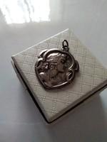 Antik  szecessziós ezüst medál
