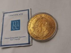 V.Ferdinánd arany emlékérme 14 gramm 0,986 Ritka,csak 200 db!!