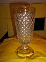 Bütykös  üveg   talpas kehely