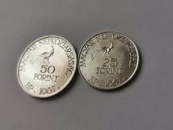 Kodály ezüst 25+50 Ft Párban R