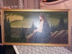 Jézus az olajfák hegyén festmény