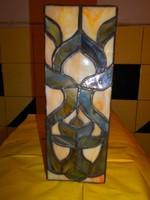 Tiffany technikával ólomüveg egyedi lámpa búra 19 cm