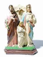 Nagyméretű szent családot ábrázoló régi szobor együttes 25 cm (185)