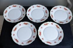 Arcopal porcelán, francia, sütis tányér, 5 darab