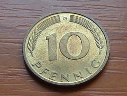 NÉMET NSZK 10 PFENNIG 1991  G